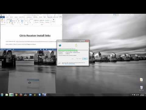 Citrix Receiver 4.1 Installation