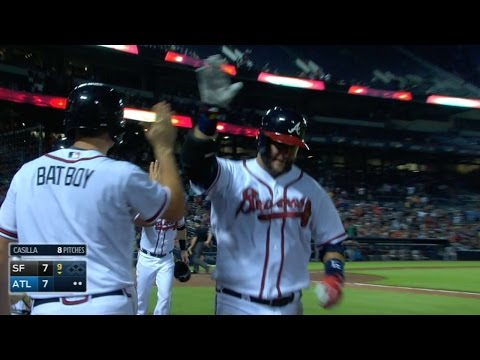 SF@ATL: Braves drill four homers in comeback win