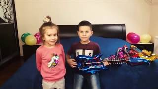 Kids play with FUNNY GUITAR  Video for Children Toddlers Babies by Joy Joy Lika