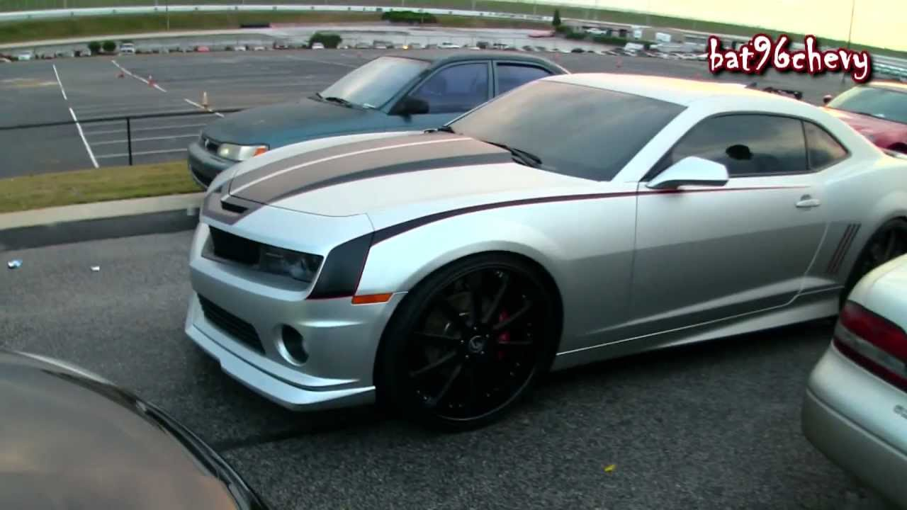 Matte Silver Amp Black Chevy Camaro Ss On 24 Quot Forgiatos