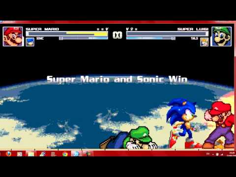 Mugen Mario and Sonic vs Luigi and Tails