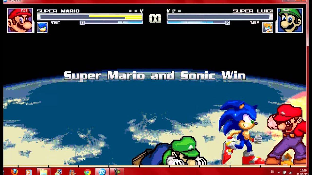 Sonic et Luigi Mugen Mario And Sonic vs Luigi