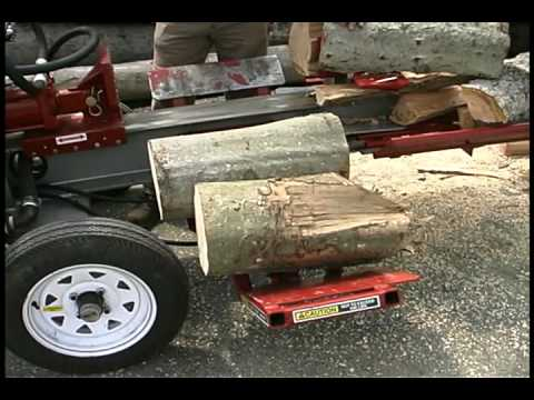 Timberwolf Log Splitter Hydraulic Log Lift Demonstration