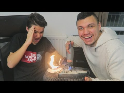 BURNING BROTHERS YEEZY V2'S PRANK