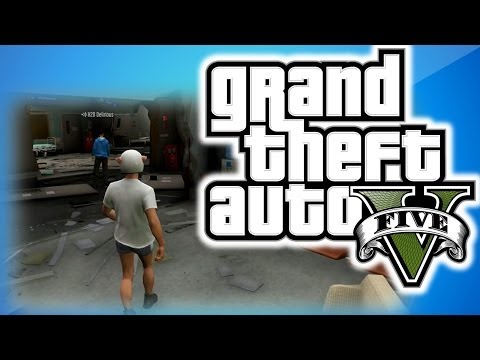 Gta 5 Online Funny Moments 10 - Inside The Hospital Glitch, Under The Map Glitch, Vehicle Porn! video