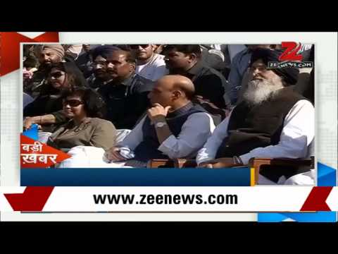 Rajnath Singh attends Wagah-Attari joint retreat ceremony in Amritsar
