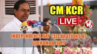 CM KCR LIVE: Independence Day Celebrations At Golkonda Fort