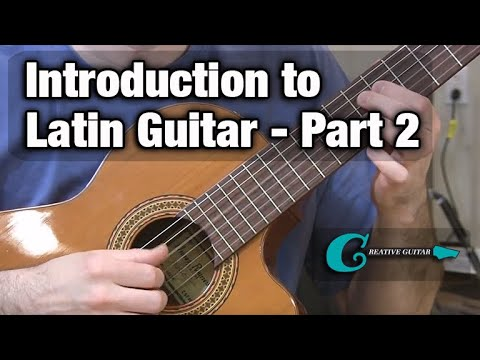 DONATIONS: http://www.andrewwasson.com/donations.php MORE LESSONS: http://www.creativeguitarstudio.com/ This Latin Guitar Styles Video will look at Accompaniment Vamps for chord changes off...