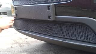Видео: Установка защиты радиатора Kia Sorento 2013 черная