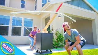 We Made a Giant Crossbow out of PVC Pipe!!