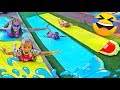 download mp3 dan video Giselle and Claudia pretend play in summer with pool funny activities for kids by Las ratitas