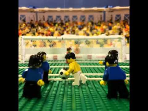 Gol de James Rodriguez   Colombia 2 - 0 Uruguay   Mundial Brasil 2014   Gol recreado en Lego