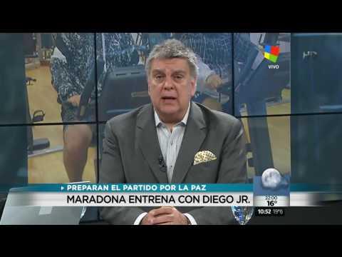Maradona entre el Partido de la Paz y la guerra judicial con Claudia Villafañe