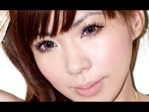 Gyaru look with Candy Doll *how to make natural lashes like false lashes* Video