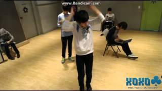 130410 SEVENTEEN Seungkwan singing Only Tears - INFINITE + Mingming dancing