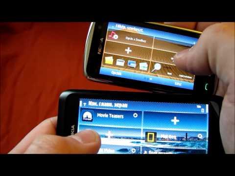 Nokia E7 vs C6-01 [HD] Русская версия