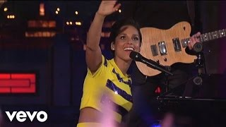 Alicia Keys Empire State Of Mind Part Ii Broken Down Live On Letterman