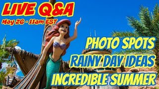 LIVE Q&A - Rainy Day Ideas ☔️ Photo Spots 📸 Incredible Summer ☀️