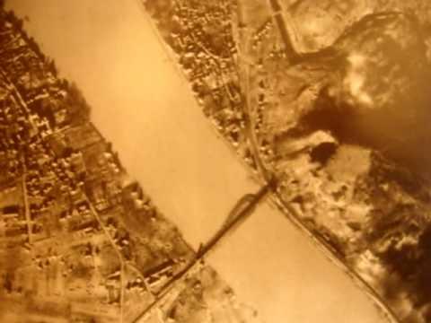 Remagen bridge from bomber