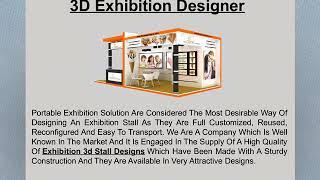 3D Exhibtion Desinger in Mumbai