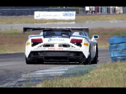 Lamborghini Gallardo GT3 FL2 Pure Sound Accelerations and Downshifts!