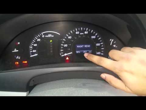 2008 Camry Hybrid Remove Maintenance light