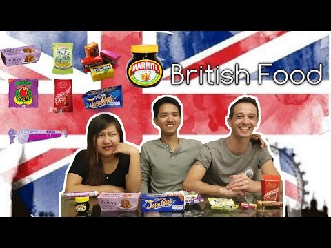 Trying British Snacks For The First Time | Marmite + Spotted Dick | Res and Dean