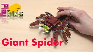 Mythical Creatures - Giant Spider - LEGO Creator 31073 - Speed Build