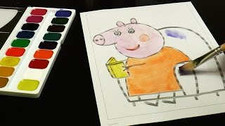 Peppa Pig Coloring Drawing Mommy Pig Peppa Pig para Colorear