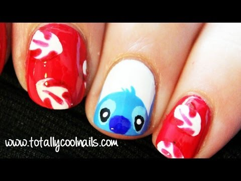 Lilo and Stitch Nail Art  Disney Collab with HelloMaphie