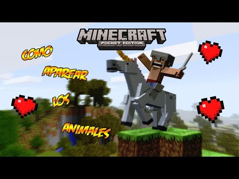 Minecraft PE 0.8.1 | Como Aparear A Los Animales