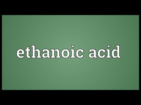 Header of ethanoic