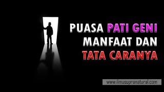 Puasa Patigeni, Tata Caranya lengkap
