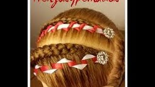 Encintado para Decorar Trenzas - Triangulo / Ribbon Weave for Decorating Braids