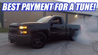 Doing DONUTS In My CUSTOMERS Supercharged Truck And Tuning A TORQUE monster C7 Z06!