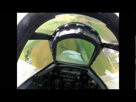 Cockpit footage from Biltema Spitfire displaying at Jarlsberg Airshow 2012