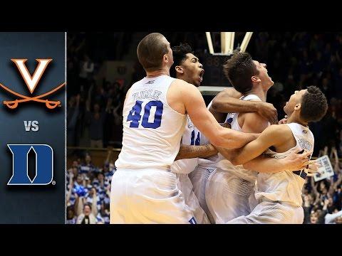 Virginia vs. Duke Basketball Highlights (2015-16)