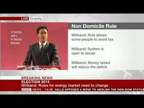 Ed Miliband announces abolition of the non-dom status