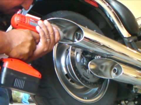 How To MOD Exhaust 2009 Vulcan 900 Custom 2 of 2