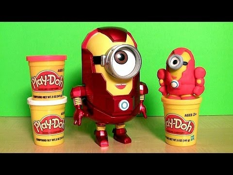 Marvel the Avengers Minion Stuart Iron Man Action Figure Play doh how-to by Blutoys