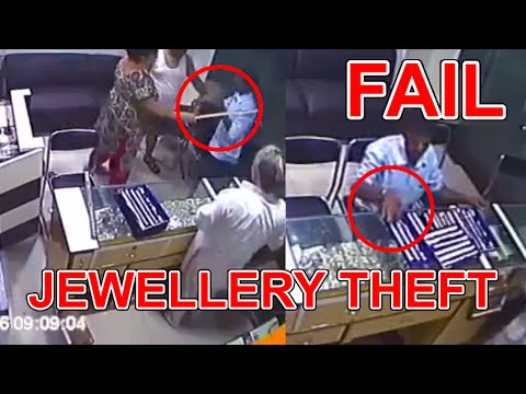 Jewellery Theft Fail 2018 Caught By Shop Owner | Full video