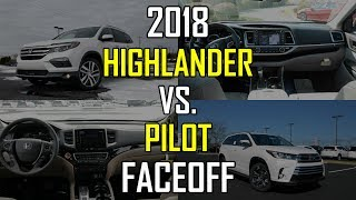 2018 Honda Pilot Elite vs. 2018 Toyota Highlander Limited Platinum: Faceoff Comparison