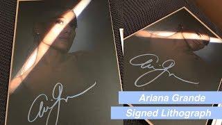 Ariana Grande Signed Litho Unboxing