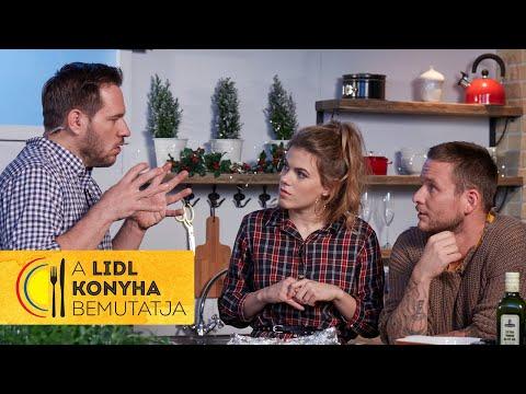 Csobot Adél és Istenes Bence fűszeres morzsával sült lazacfiléje édesburgonyával | Lidl Konyha LIVE