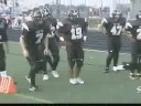 Football Speed and Stretch  Drills : Football pre-game stretch Video