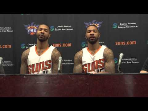 Morris Twins Press Conference Suns 2014 Media Day