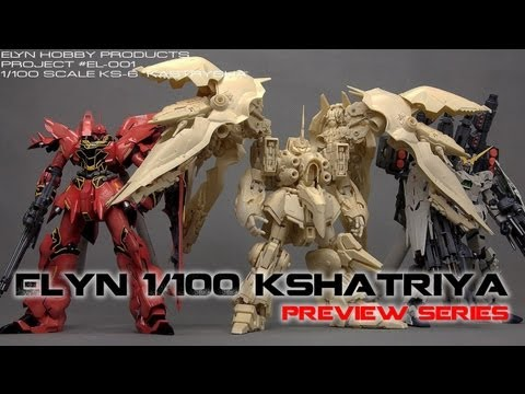 Elyn Hobby Kastrysha / Kshatriya 1/100 Plastic Gundam Unicorn Model Kit Preview