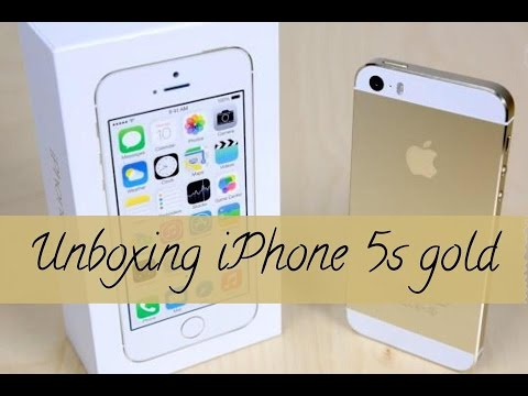Unboxing IPhone 5s Dourado, Gold Apple BR