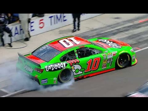 Patrick breaks rear axle @ 2014 NASCAR Sprint Cup Indianapolis
