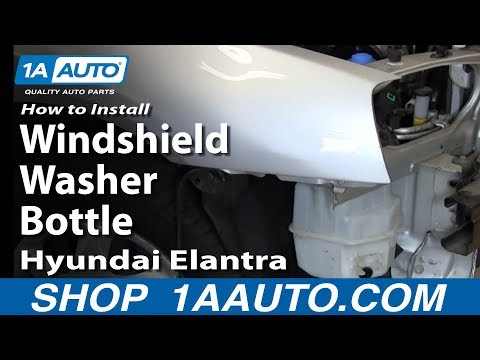 How To Install Replace Windshield Washer Bottle Hyundai Elantra 01-06 1AAuto.com